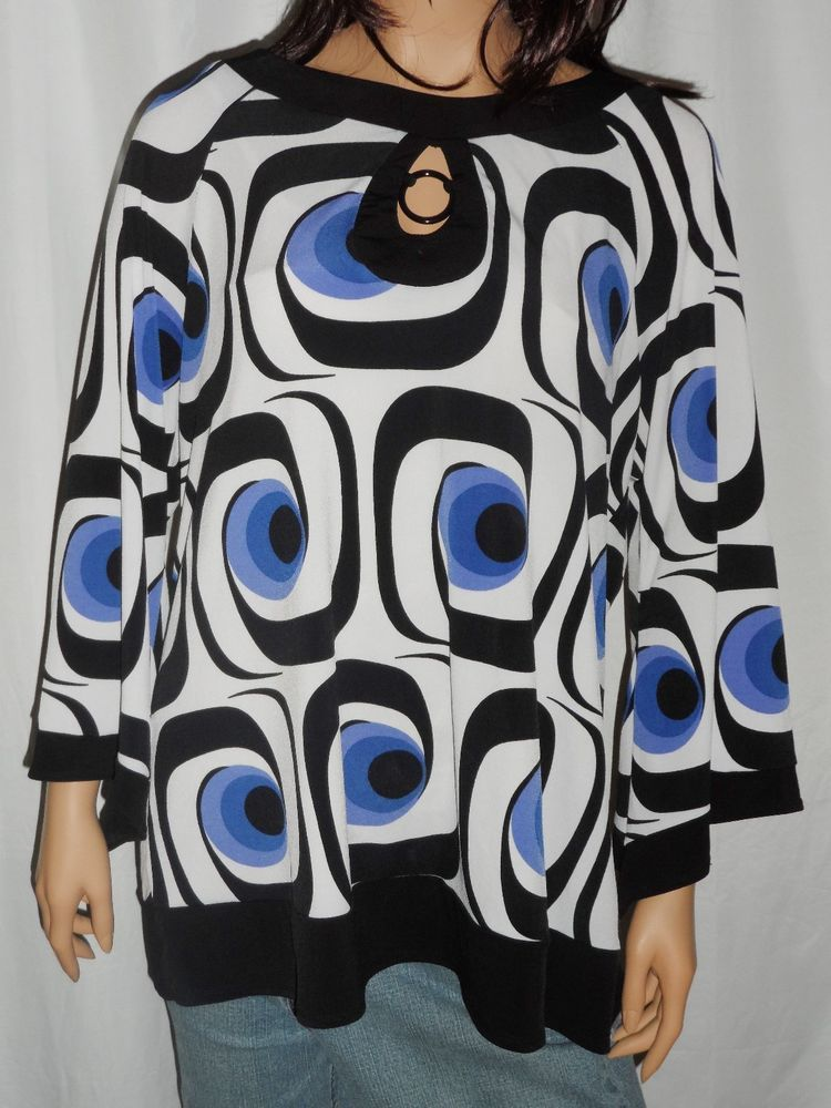 1ede6045a36613 Cato Blouse Womens Size XL Geometric Design Multi Color Shirt Top #Cato # Blouse #Casual