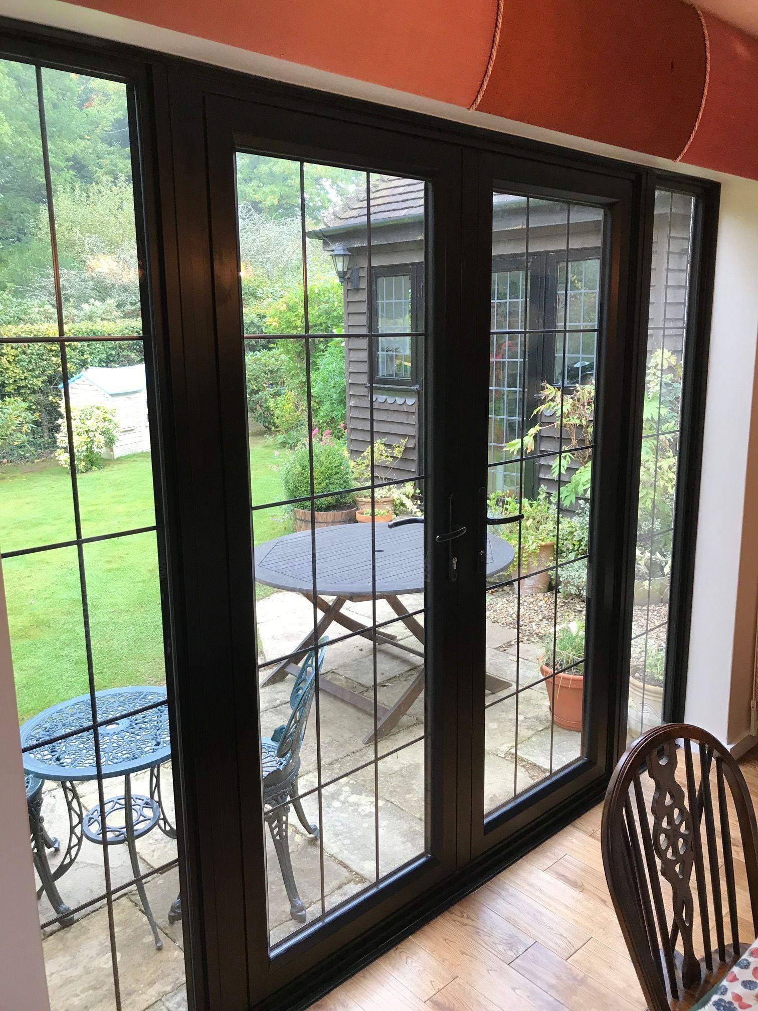 Aluminium French Door Complex In Black Aluminium French Doors Window Design Aluminium Windows And Doors