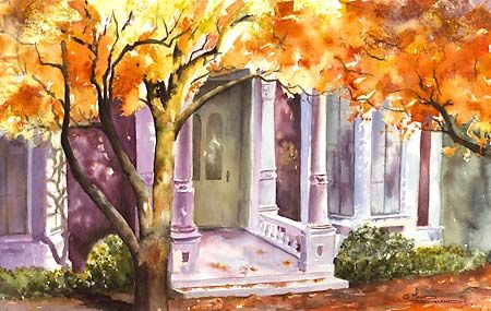 Maud Durland Watercolors Watercolor Architecture Art