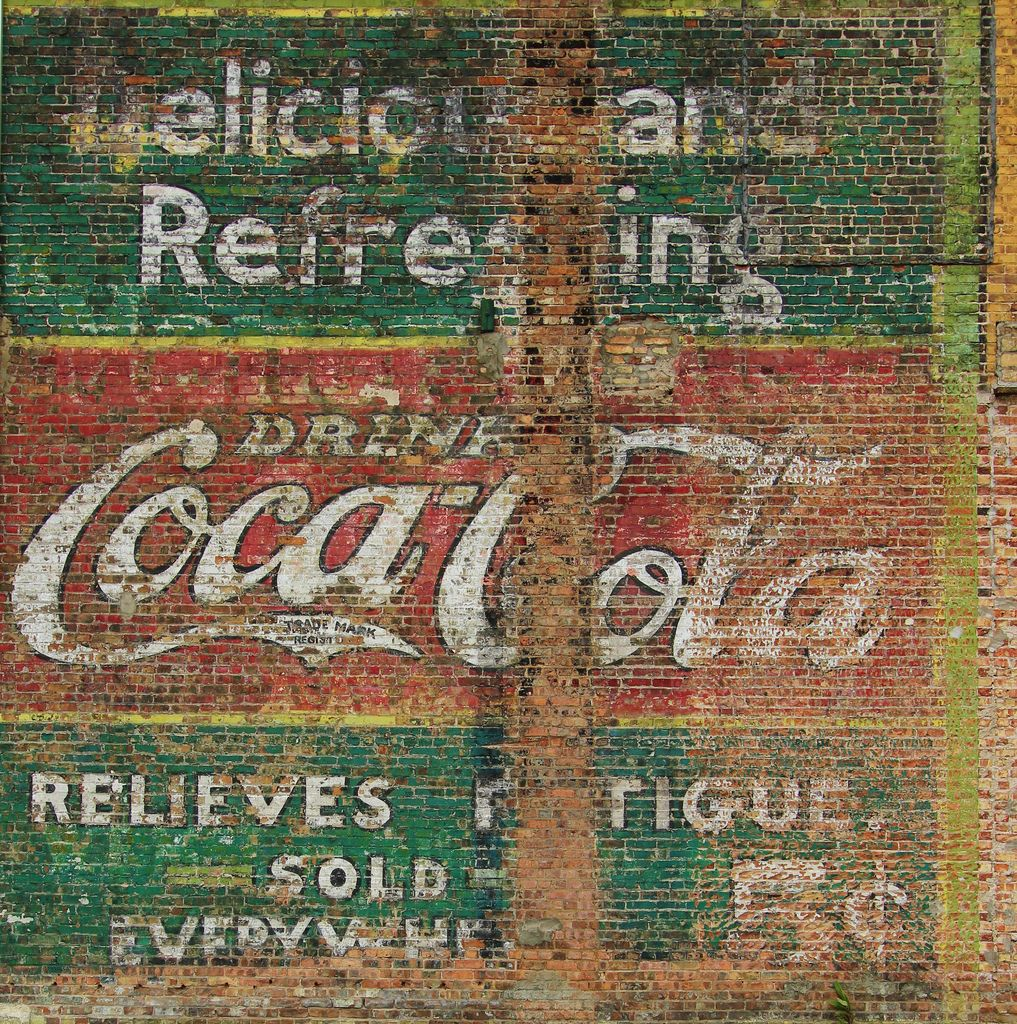 Vintage wall murals google search general store for Coca cola wall mural