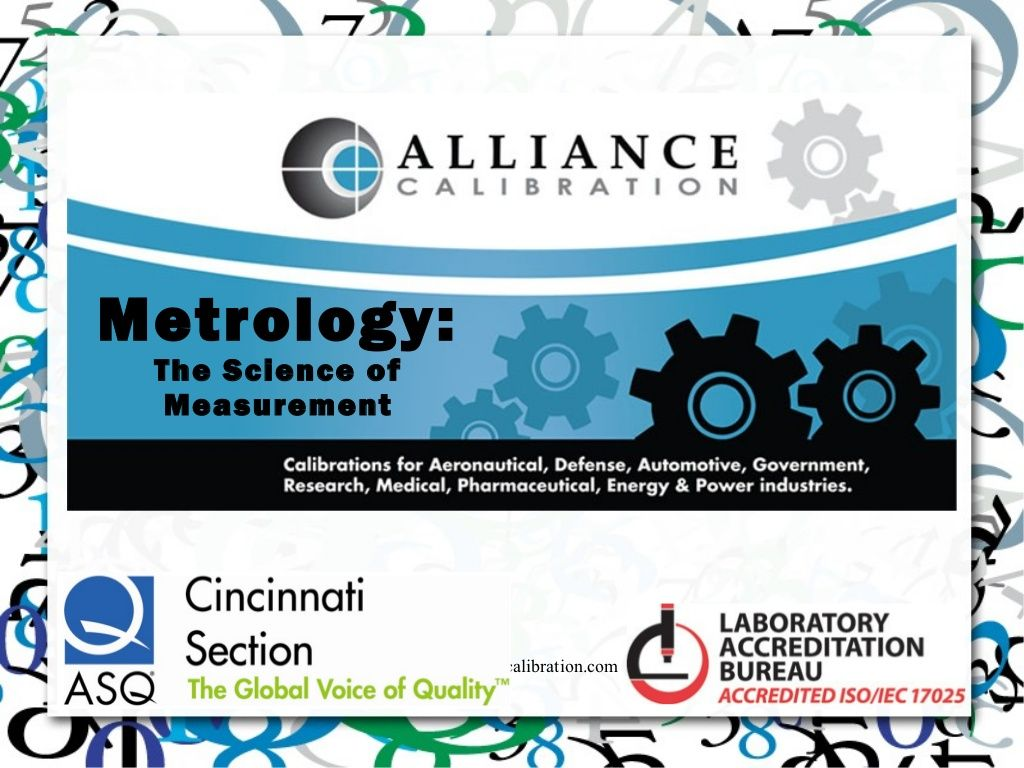 The Science Of Measurement Calibration Alliance Science Pharmaceutical