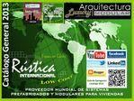 Rústica INTERNACIONAL. RustInter. Catálogo General 2013.