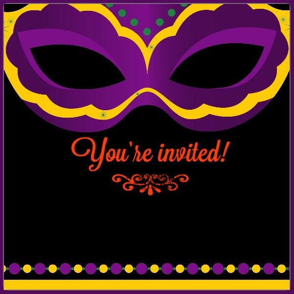 photo relating to Free Printable Mardi Gras Invitations named Cost-free Printable Mardi Gras Invitation Card Coolest