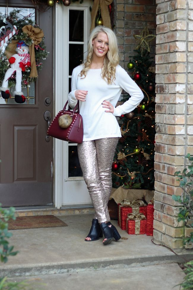 6a1a8f264f34 Sequin Leggings Sequin Leggings, New Years Eve Outfits, Holiday Outfits,  Ambition
