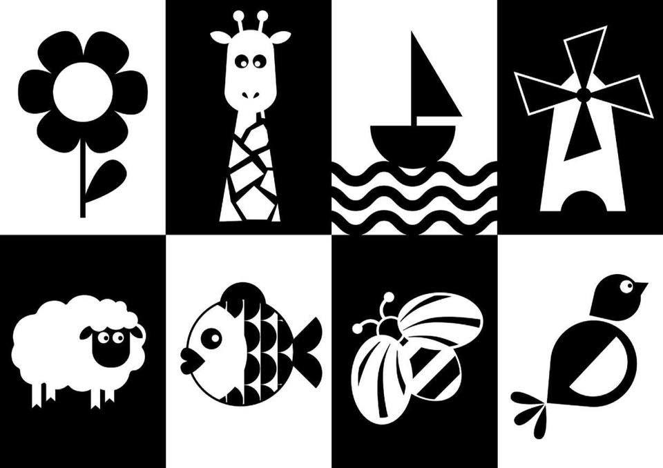 carte noir et blanc pictogramme montessori noir blanc carte | Carte montessori