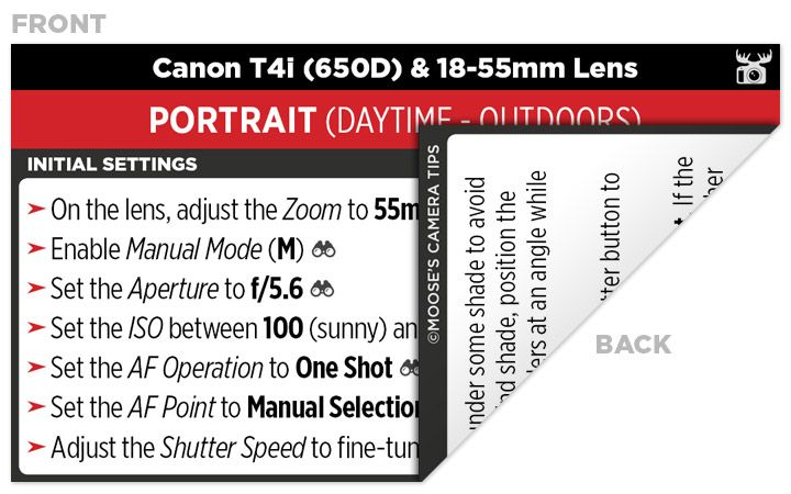 Sample Canon T4i (650D) Cheat Sheet | Dslr | Camera nikon