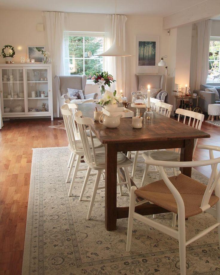 Dieser Speisesaal im modernen Landhausstil überzeugt auf ganzer Linie! Eine Wunde #farmhousediningroom
