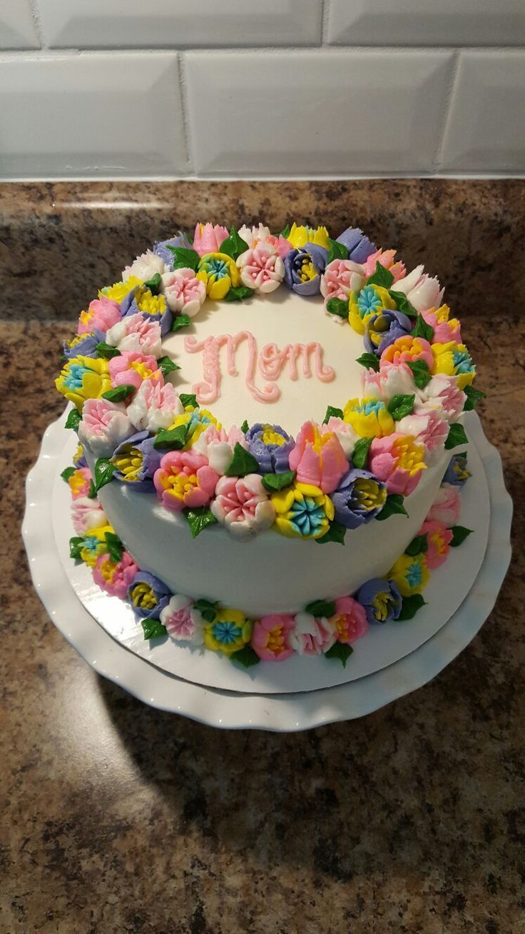 Russian Piping Tip Mother S Day Cake Russian Cake Decorating