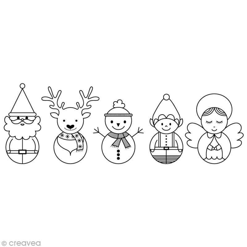 Christmas Stamp - Christmas Characters - 10 x 3.5 cm - Photo # 1 ...
