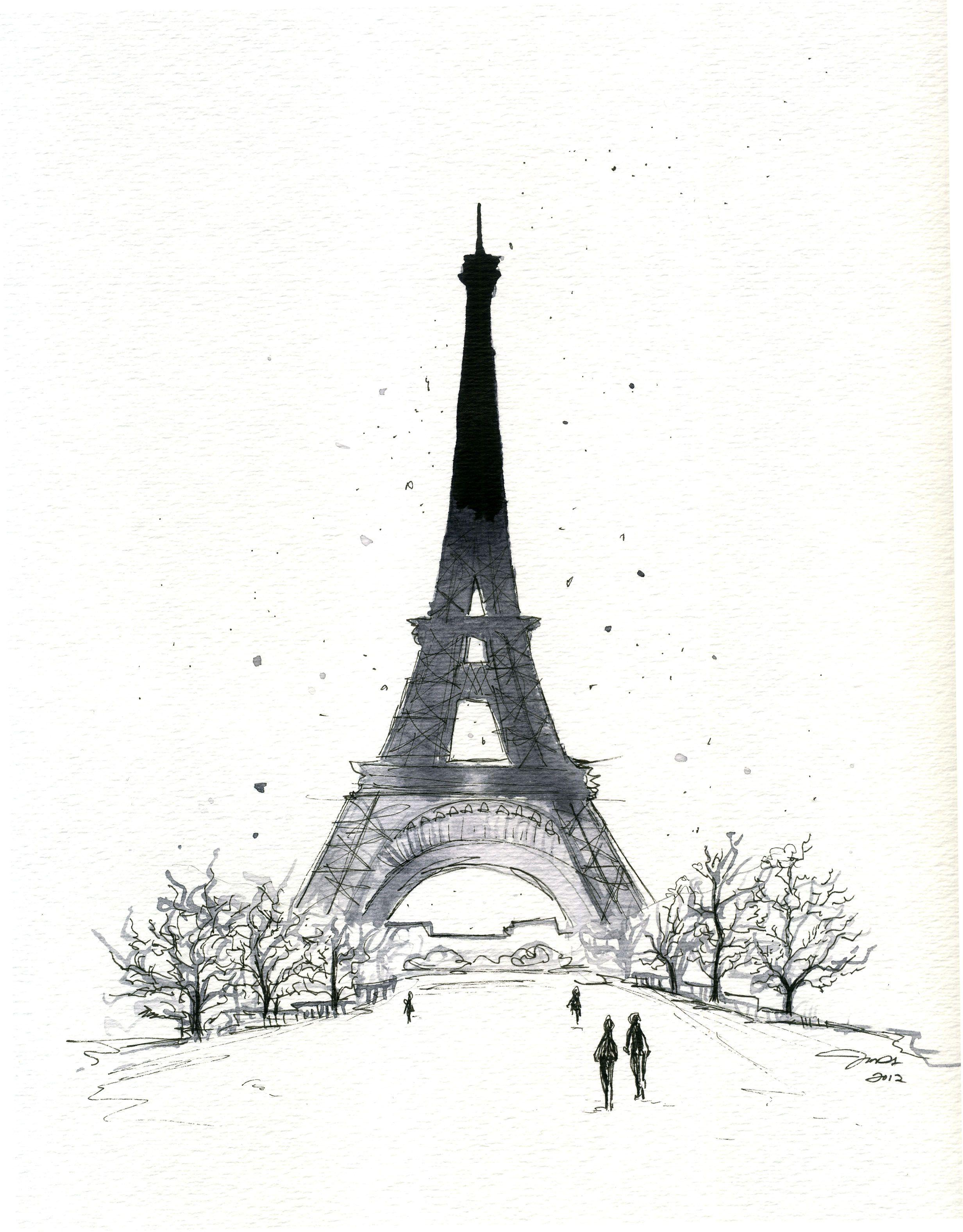 Paris In The Winter Watercolor Paris By Jessica Durrant