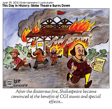 This is a funny comic depicting the fire that burned down ...