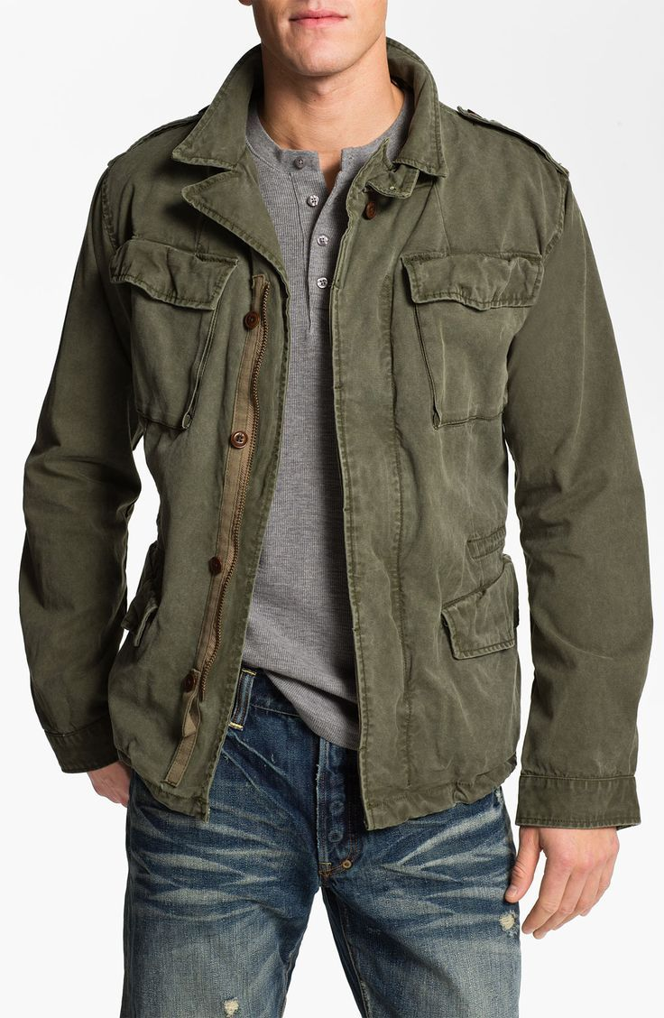 02aca8f5e6 guess men's wool military jacket with bib | Minimalist Home Design ...