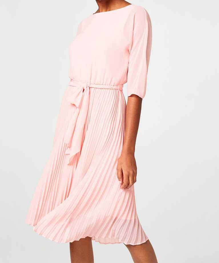 on sale c5b24 ce829 vestito rosa con gonna plissé matrimonio | Spring&Summer nel ...