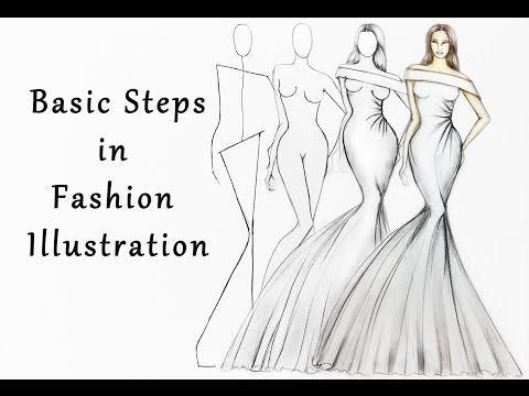This Exercise Has Been Crafted With Very Simple Basic Techniques And Materials A Fashion Illustrations Techniques Fashion Drawing Tutorial Dress Design Drawing