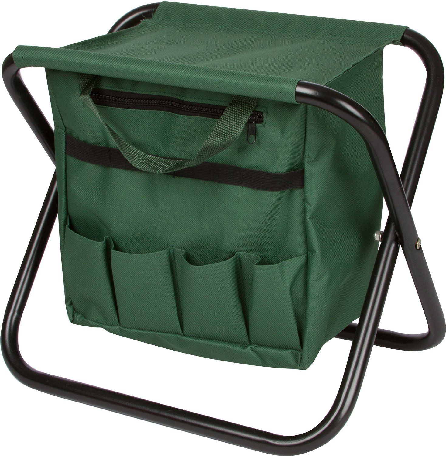 equipment bag garden and gardening stool storage gardeners folding with tools