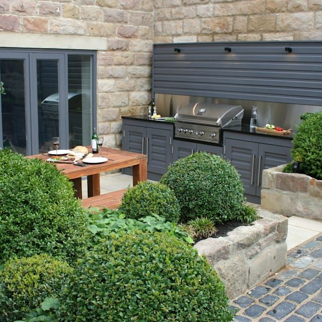 Outdoor Kitchen Ideas On A Budget: Urban Courtyard For Entertaining: Modern Garden By
