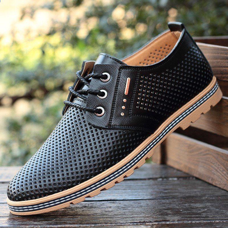 Nowe Wiosenne I Letnie Obuwie Meskie W Stylu Europejskim I Amerykanskim Meska Sukienka Biznesowa Puste Buty Na Co Dzien Leather Shoes Men Dress Shoes Men Shoes
