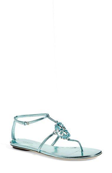 7f8262bda Gucci 'GG' Crystal Thong Sandal available at #Nordstrom   Womens ...