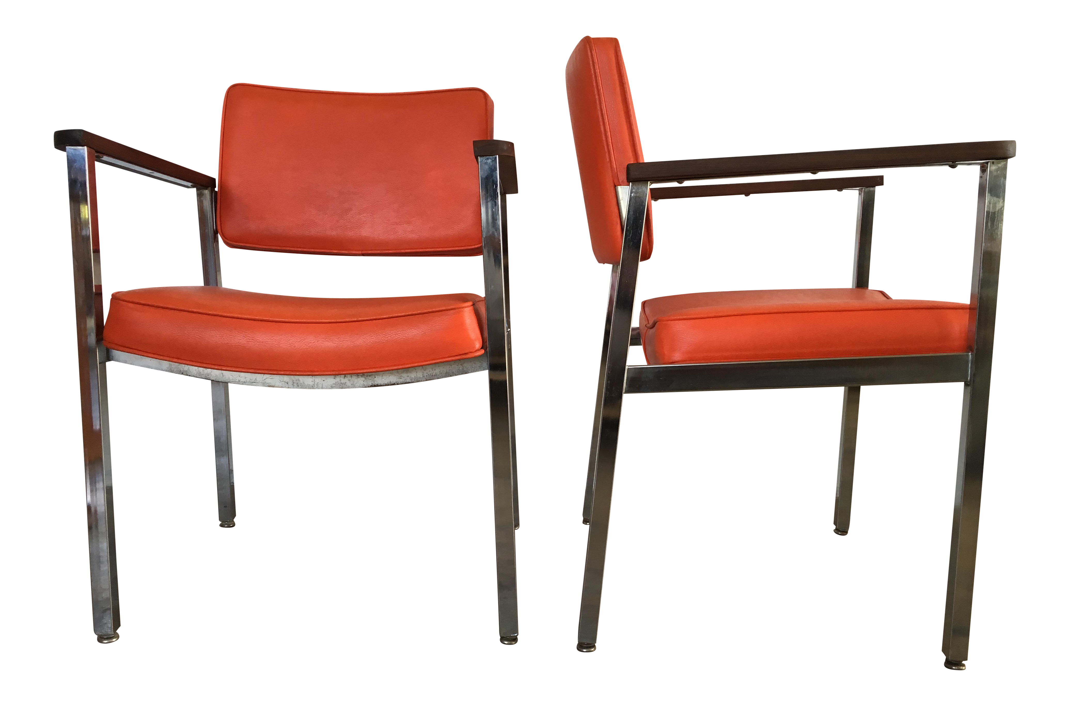 mid century modern office chairs. 1960s Vintage Haskell Mid-Century Modern Office Chairs- A Pair Mid Century Chairs