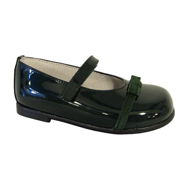 Zapato de ni a tipo mercedita charol verde botella en zapanines zapater a infantil y - Charol zapateria ...