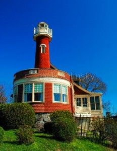 Turtle Rock Lighthouse, on the Schuylkill River in Philadelphia, PA, USA - #lighthouses #vuurtorens