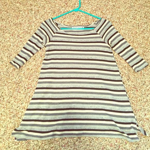 Urban Outfitters Project Social Striped Tunic Fun whimsical tunic never worn (without tags). Perfect for a spring look paired with leggings and boots or flats.  Urban Outfitters Tops Tunics