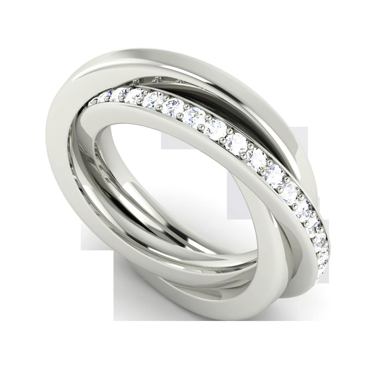 russian wedding ring Stunning Diamond Russian Wedding Ring in 9ct White Gold from StyleRocks