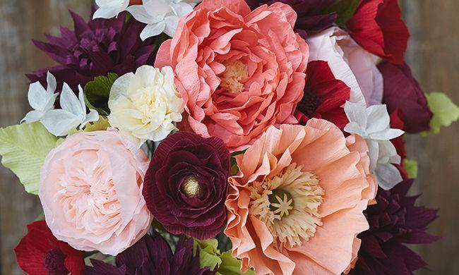 Crepe paper flowers 101 part 2 video pink pinterest flower crepe paper flowers 101 part 2 video mightylinksfo