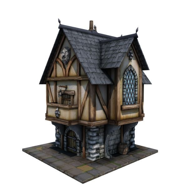 Marvelous Medieval House 02   Game Ready 3d Model By Store.cgduck.pro