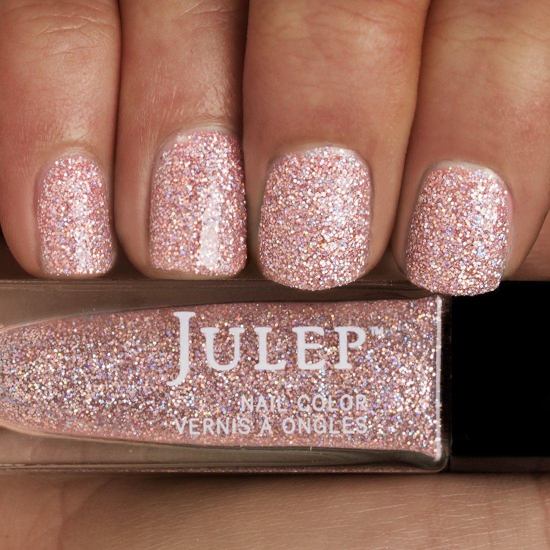 Pink And Blue Glitter Nail Polish: Blushing Holographic Full-coverage Glitter