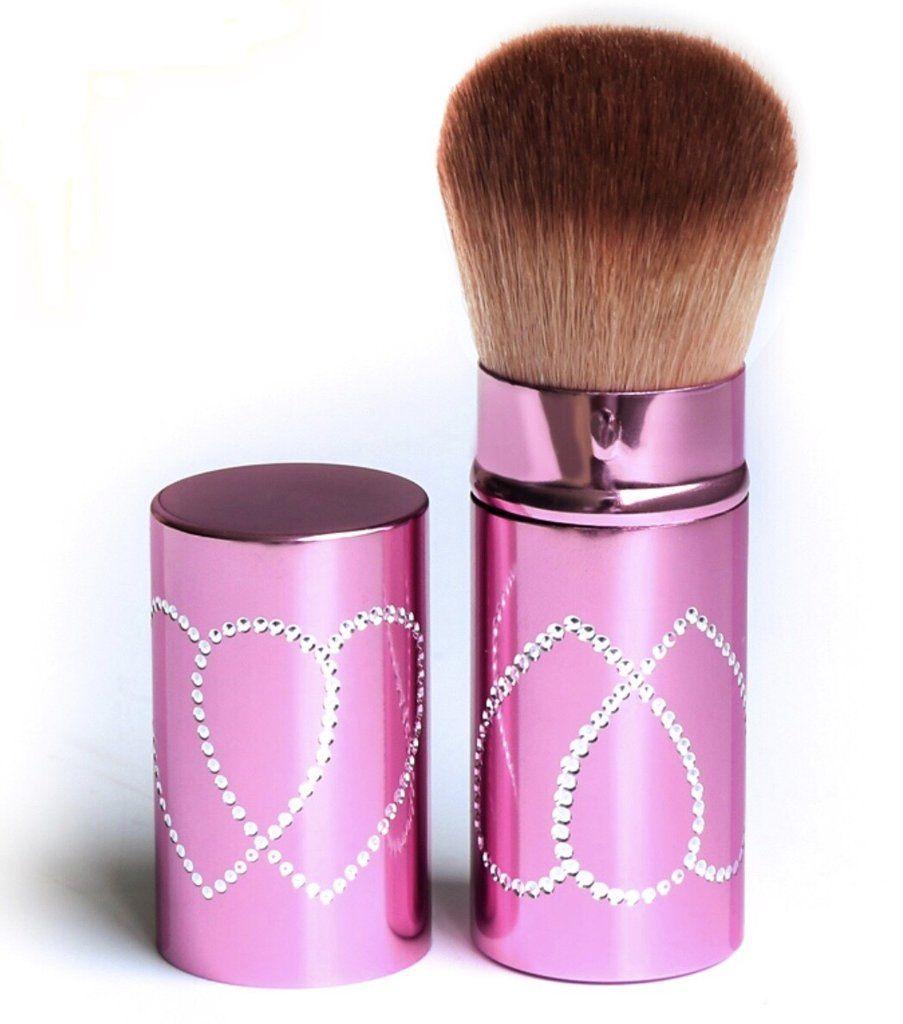 Fancy Kabuki Brush With Heart Crystals Pink Things Pinterest Kuas Hello Kitty