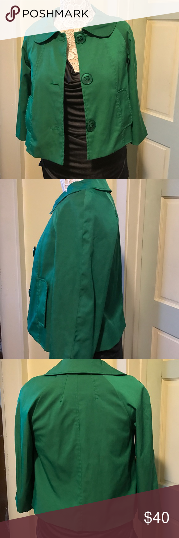 VERTIGO Paris Irish 🍀 coat This beautiful chic coat is prefect for the office, with spring around the corner you can make that outfit just right 3/4 length sleeve size XS Vertigo Paris Jackets & Coats Blazers