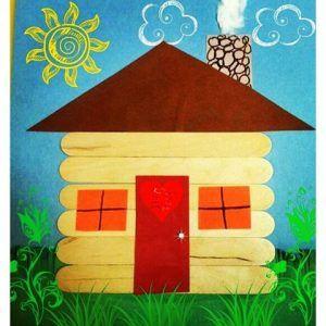 Popsicle Stick House Craft Idea For Kids Pracovni A Vytvarna