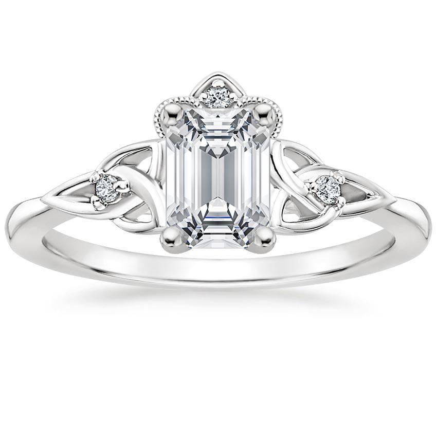 18k White Gold Celtic Crown Diamond Ring Celtic Engagement Rings White Gold Diamond Rings Celtic Crown