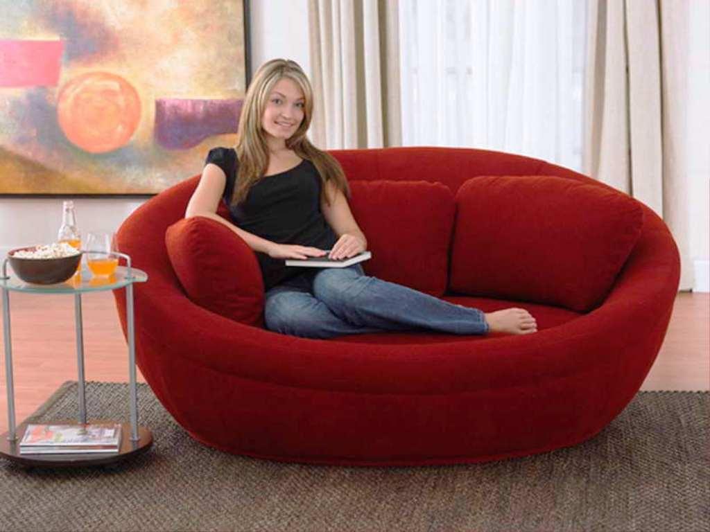 Semi Round Loveseat Room Furniture Design Sofa Design