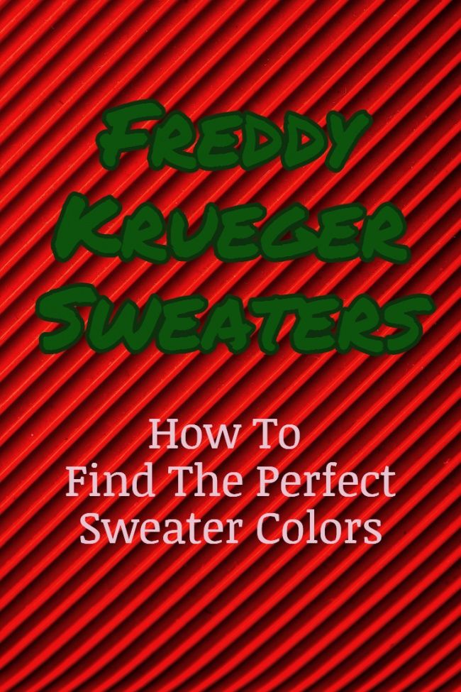 Where To Find The Perfect Yarn To Knit The Classic Freddy Krueger