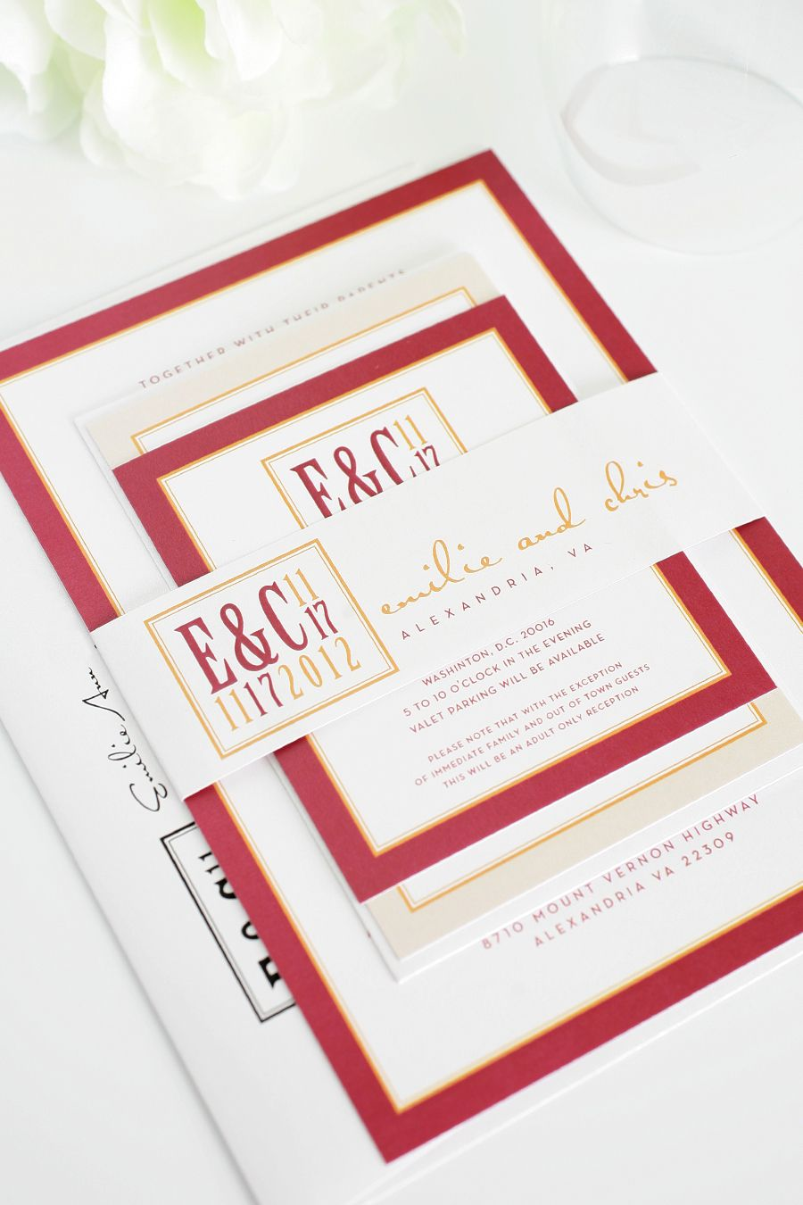 nice Red Wedding Invitations Printable Invitations by www
