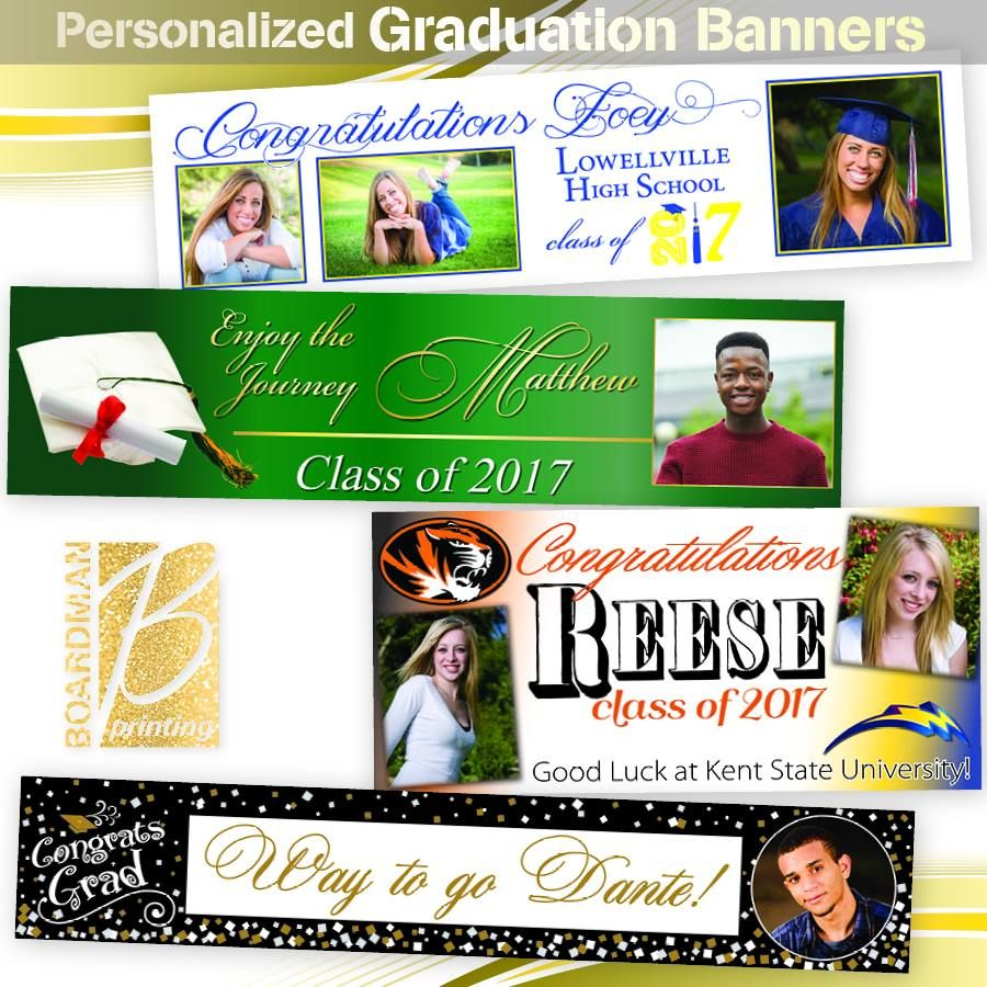 personalized graduation banners are available at boardman printing