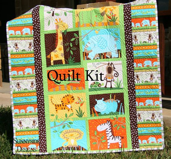Jungle Bungle Quilt Kit Boy Or Girl Gender By