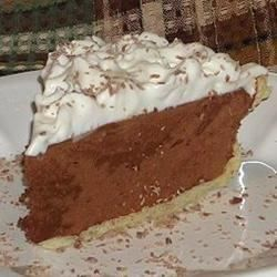 Sinfully Delicious Chocolate Pie - Lots of sugar, eggs, chocolate and butter are in this decadent pie. Everything is put into a bowl and beaten, until the mixture is light, fluffy and thoroughly combined.