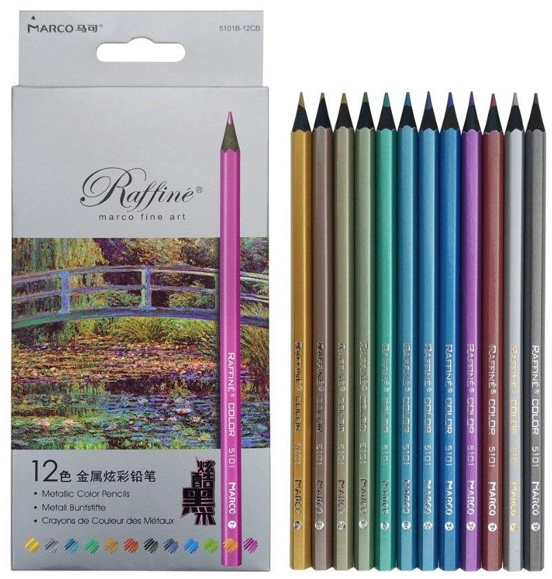 Marco Raffiné 12 Metallic Color Pencils | Kleuren, Potlood