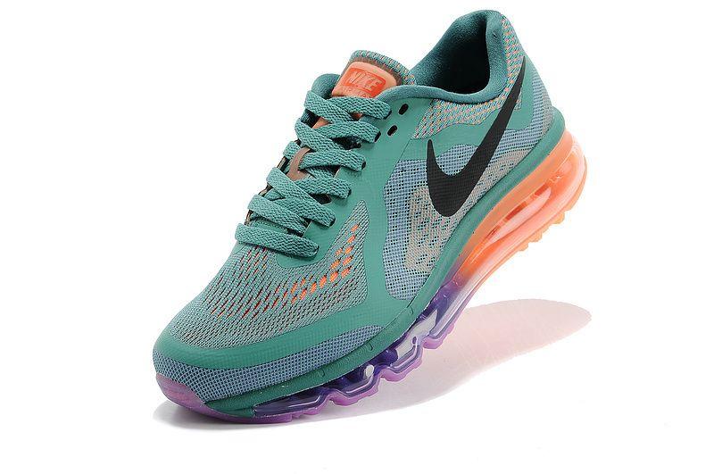 Nike Women's Shoes- Nike Air Max 2014 Trainers Blue/Orange/Green/Black