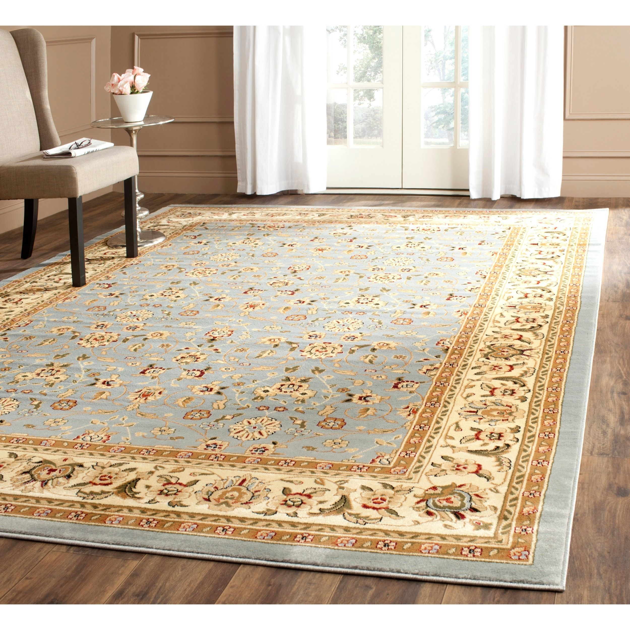 com ivory collection blue rug amazon x kitchen dining safavieh area evoke and osicqzql dp light contemporary