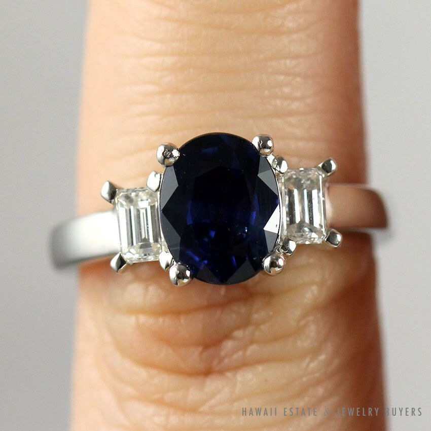 Raw Sapphire Necklace Indigo Sapphire Jewelry September