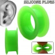 Wholesale Body Jewelry Green Silicone Hollow Plug - PS7-G Product Code: PS7-G