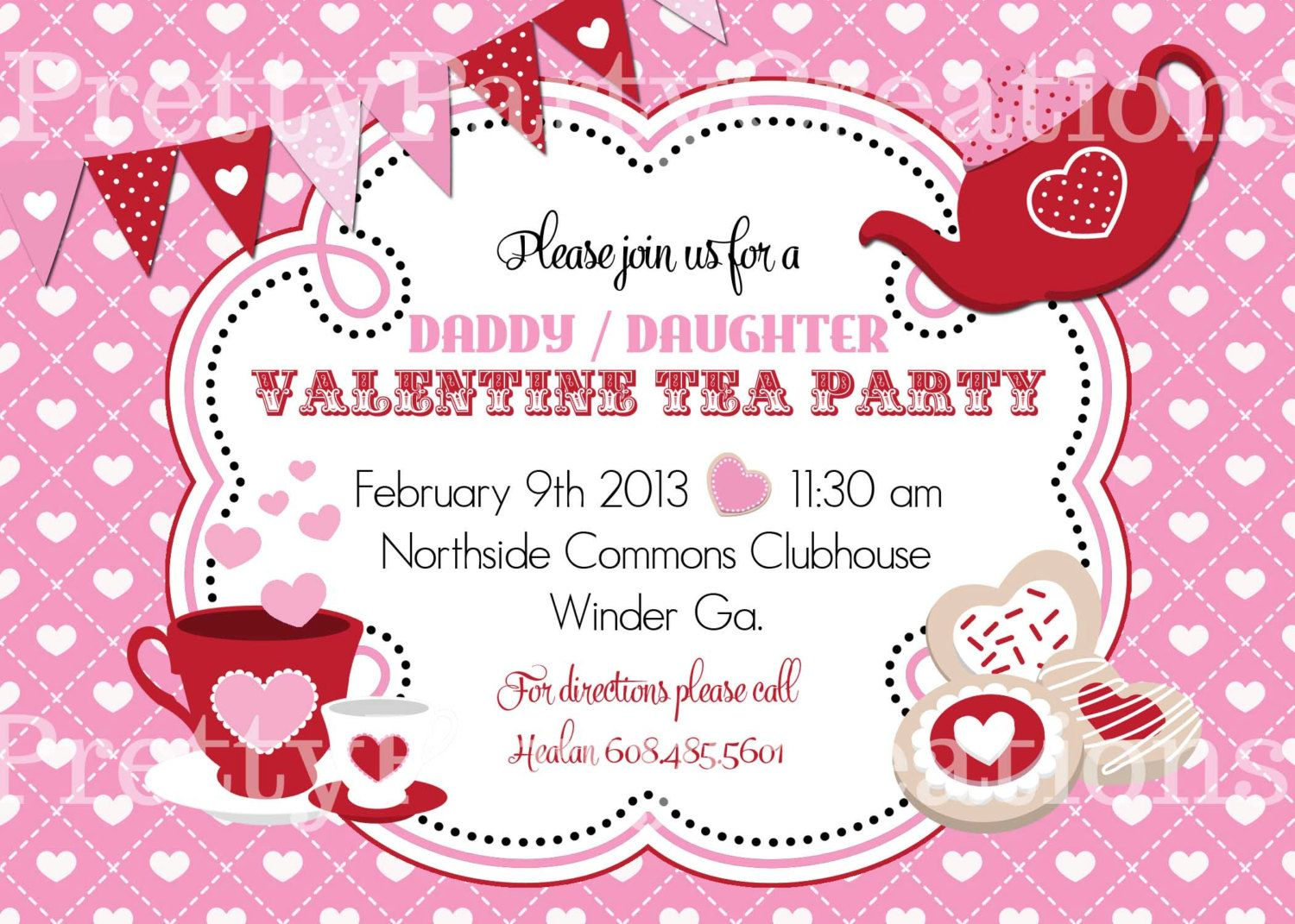 Image detail for -VALENTINE TEA PARTY invitation You Print by ...