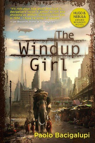 The Windup Girl by Paolo Bacigalupi, http://www.amazon.com/dp/B006TKP2B2/ref=cm_sw_r_pi_dp_AEcCsb03J9TCR
