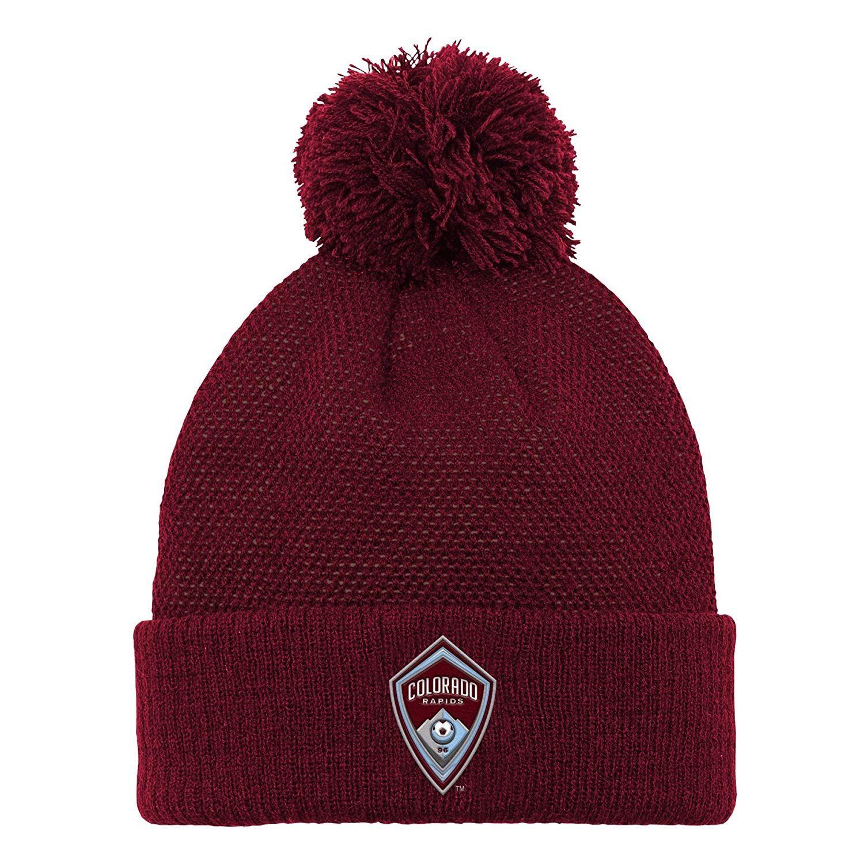 RE KINGO Fans Kint Hat Beanie Knit Cap with Pom Winter Hats Cuffed Stylish Sport Hats Unisex Fashion Toque Cap