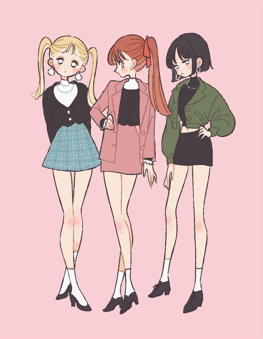 twitter 漫画アート かわいい イラスト 女の子 芸術的アニメ少女
