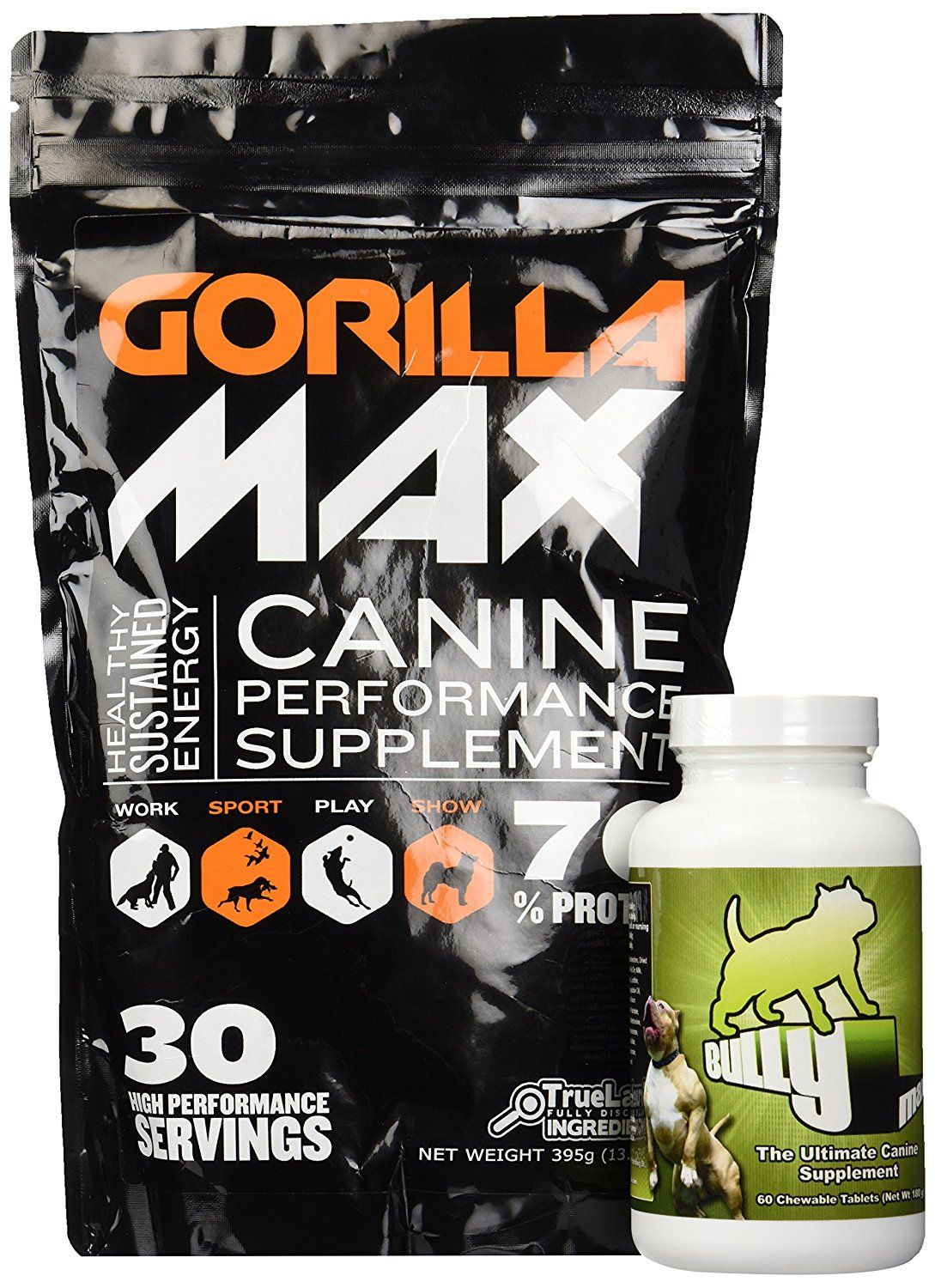 Bully max dog muscle supplement bully max and gorilla max